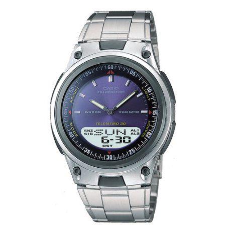 Casio Men's Sports Ana-Digi Databank Watch, Blue, Gray