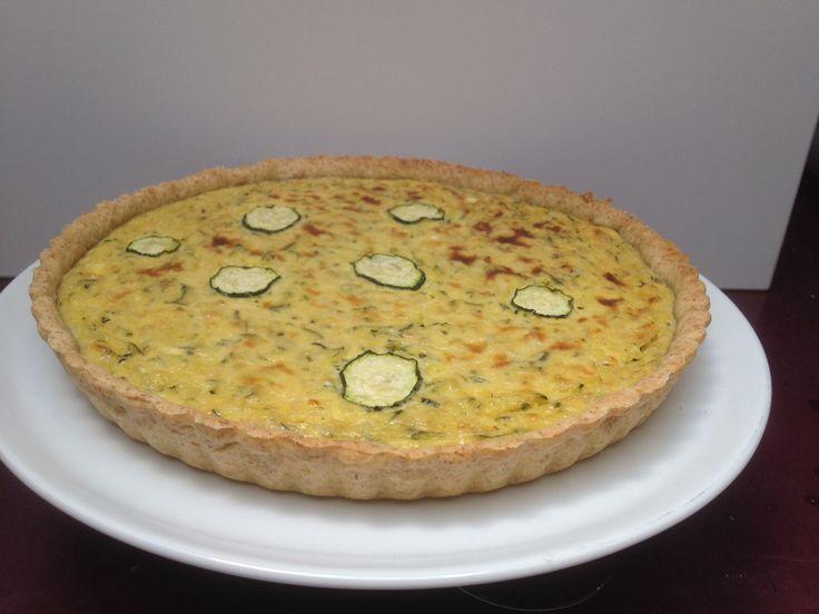 Quiche de calabacín (zuchini) y queso de cabra (8-10 personas)   http://luciacocinabogota.blogspot.com