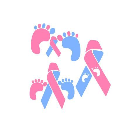 Pregnancy and Infant Loss Awareness Ribbon SVG, Studio 3, DXF, EPS, ps and pdf Cutting Files for Electronic Cutting Machines