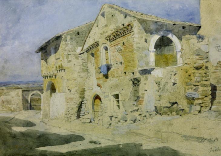 Artwork page for 'Houses at Tivoli', Hercules Brabazon Brabazon, c.1860