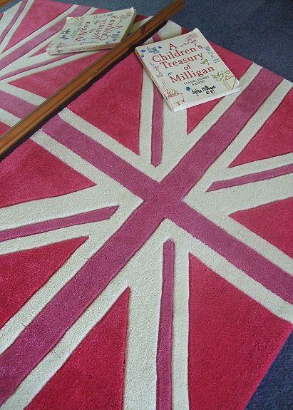 pink union jack rug