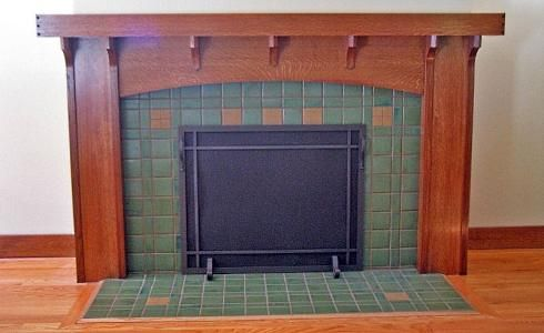 1000 images about craftsman fireplace mantels on for Craftsman fireplace pictures