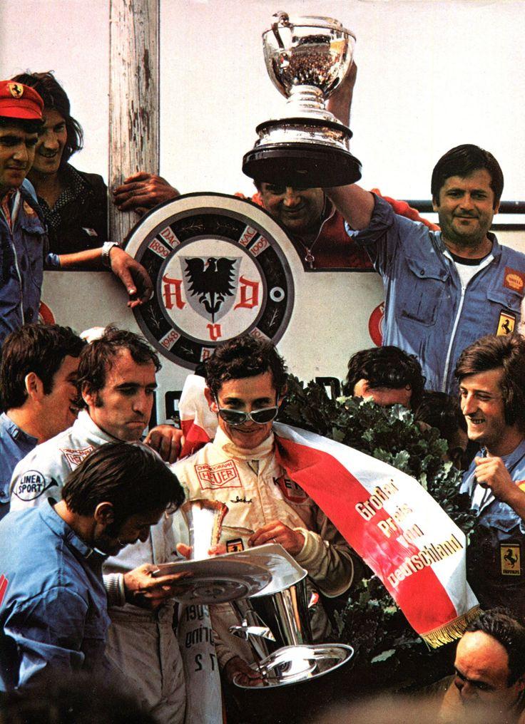Jacky Ickx - 1er Grand Prix D'Allemagne (Nürburgring) - 2éme Clay Regazzoni - Ferrari (1972) - L'Automobile Septembre 1972