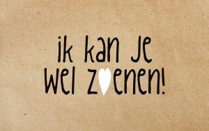 Ik kan je wel zoenen #zinvol