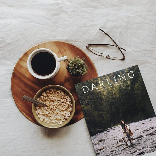 Chilly fall mornings call for coffee and reading.