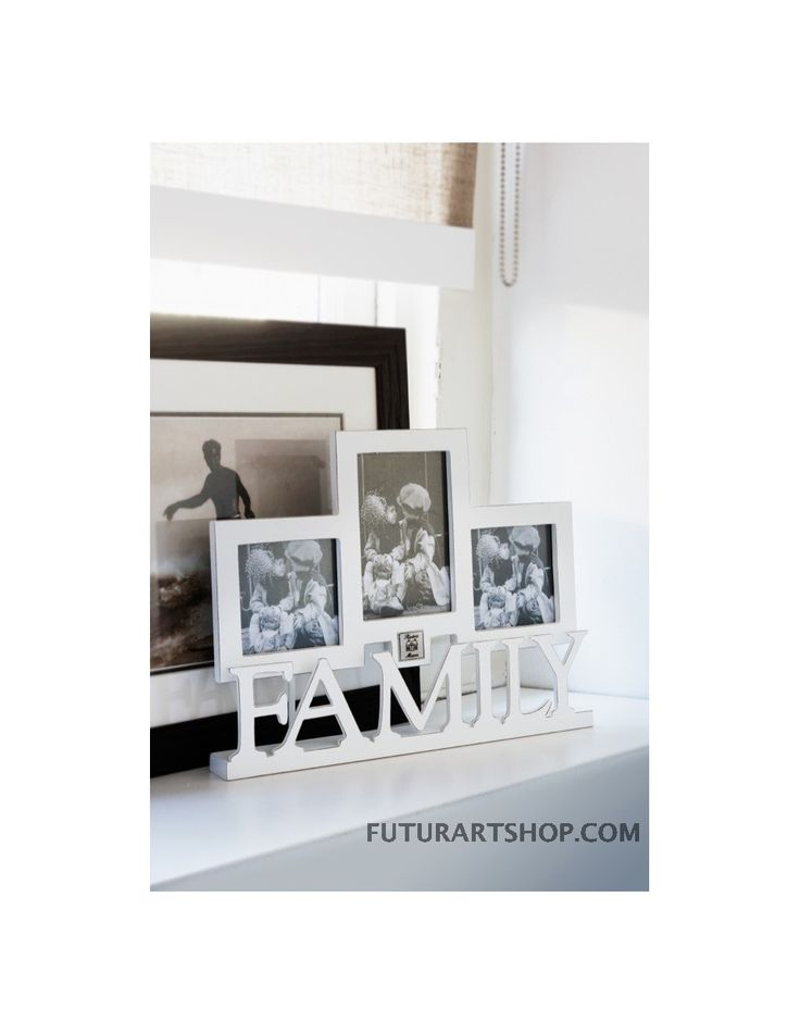 Тройной фотография держателя с семьи, семья тройная фоторамка