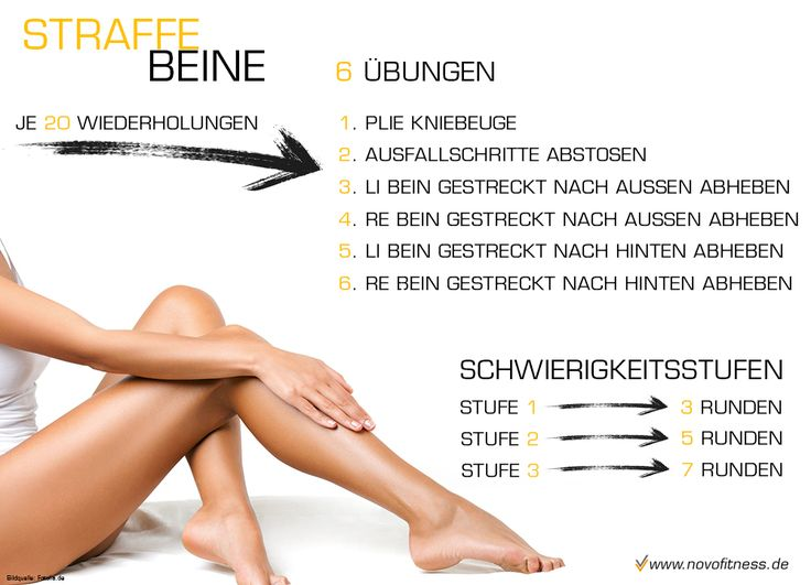 Straffe Beine Workout  Maximale Fettverbrennung: http://www.amazon.de/gp/product/B00HFN7MQK?*Version*=1&*entries*=0