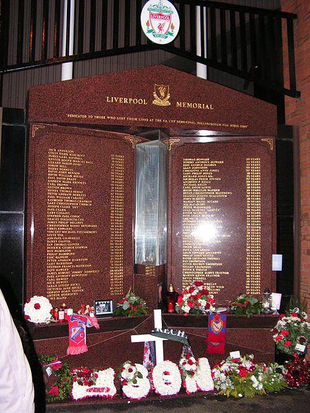 Hillsborough Football Club Disaster - Liverpool Memorial