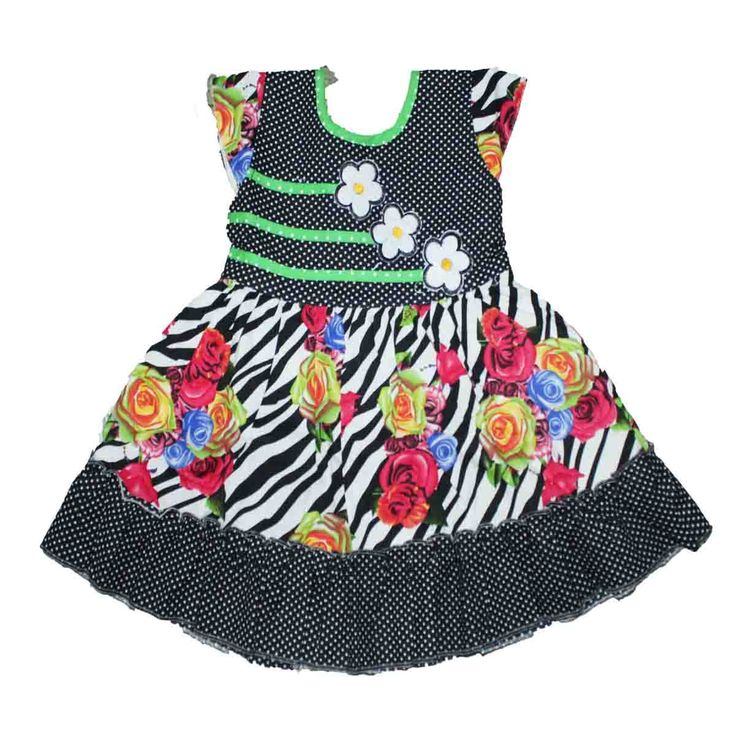Colourful cotton frock Price : 425 size : 1 year to 4 year Free shipping   http://www.princenprincess.in/index.php/home/product/368/Cotton%20frock%20with%20red%20and%20blue%20rose