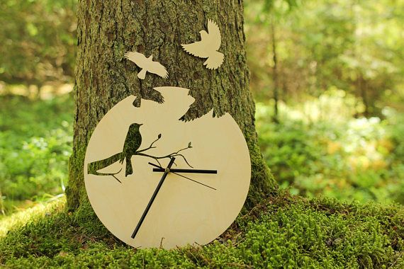 "Perfect clock for you home or as gift for your loved ones! Great as birthday, Christmas or wedding gift! Clock will be shipped in 3 days after purchase! Free shipping all around the world! Clock details: 12"" (29cm) diameter; 0.15"" (0.39cm) thickness; 200 grams weight; Made of wood,"