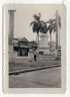 1963 PHOTOGRAPH Colon Panama Latin America REAL PHOTO Street Scene COLUMBUS