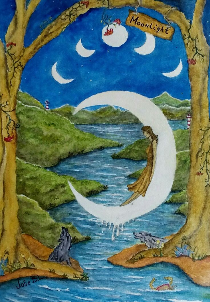 """Moonlight"" Acrylic on canvas 41 x 28 cm Author: Jóse B.L. www.foundmyself.com/joseblancopaintings"