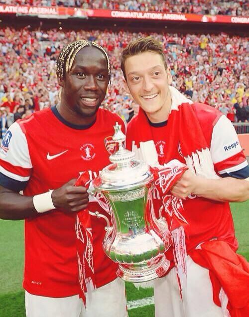 Arsenal - FA Cup Winners 2014 Bacary Sagna and Mesut Ozil