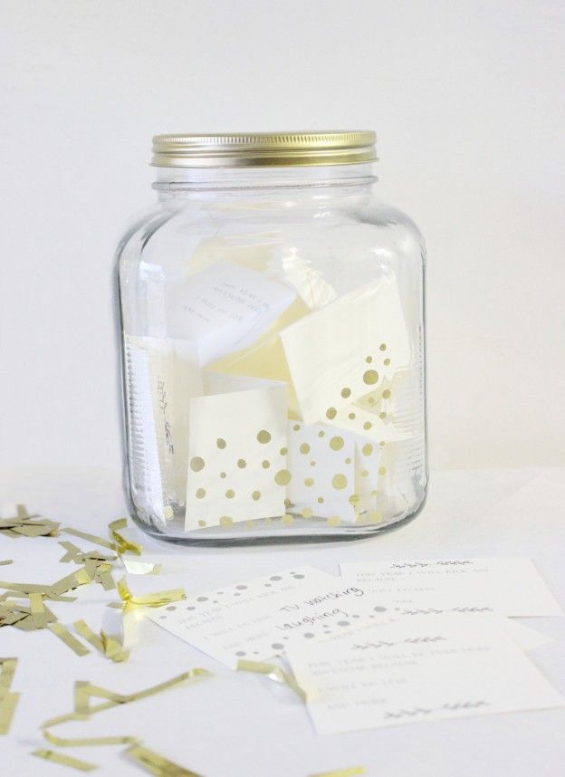 New Year's Eve Party Game with Printable Cards and Jar DIY from Rosy Glasses.