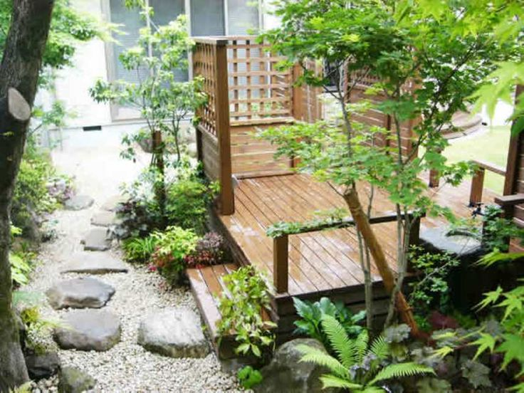 17 best images about garden ideas on pinterest gardens for Japanese decking garden