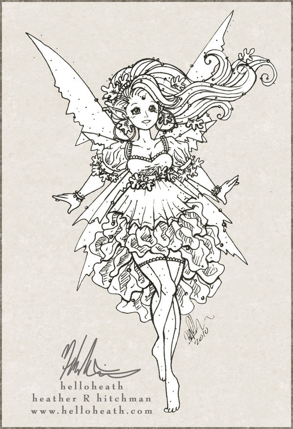 fall fairy coloring pages - photo#5