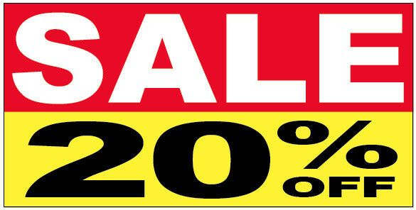 Sale 20 Off Vinyl Banner Sign 2 3 4 6 8 10 12 15 20 Ryb Vinyl Banners Banners Signs Clearance Sale Sign