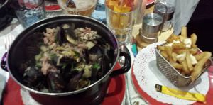 Reims, France - Mussels and Frites at Brasserie L'Edito
