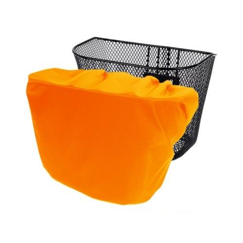Extra großer MadeForRain Regenschutz für Fahrradkörbe - Leuchtorange