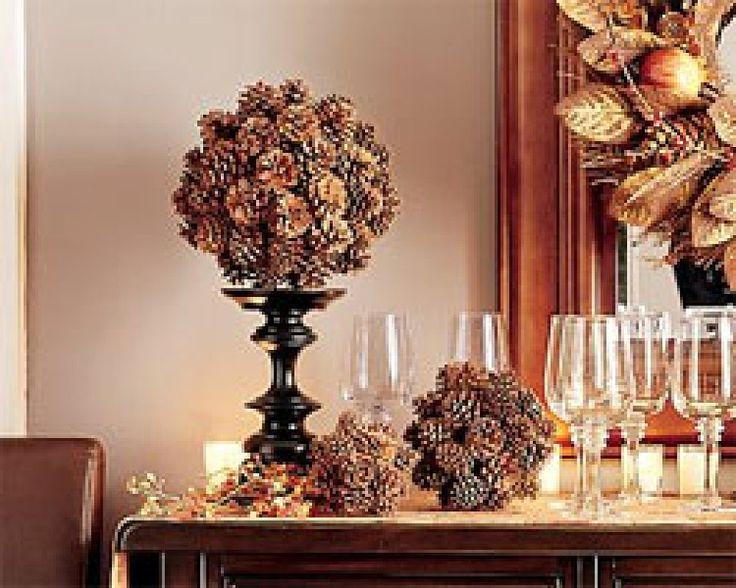 M s de 25 ideas incre bles sobre adornos navide os con - Adornos de navidad con pinas ...