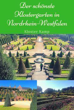 ÜBERRASCHUNG & BEGEISTERUNG - das sind die Reaktionen, wenn Besucher zum ersten Mal den Garten von Kloster Kamp betreten. Deshalb ist es auch auf Platz 1 meiner Top 5 der schönsten Klöster in NRW. Alle Tipps im Blog.
