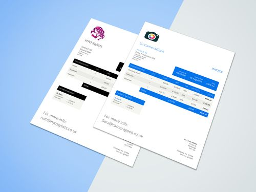 27 best Creative invoice templates for freelancers images on - invoice designs