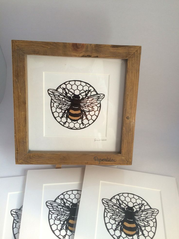 "Framed Bee digital print 6"" by PaperlilacCo on Etsy https://www.etsy.com/uk/listing/280765470/framed-bee-digital-print-6"