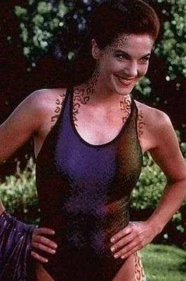 Jadzia Dax from Star Trek: Deep Space Nine: Tattoo Stars Trek Trill, Jadzia Dax, Deep Spaces Nine, Trill Spots, Dax Terry, Dax Trill, Trek Deep, Terry Farrell, Jazdia Dax