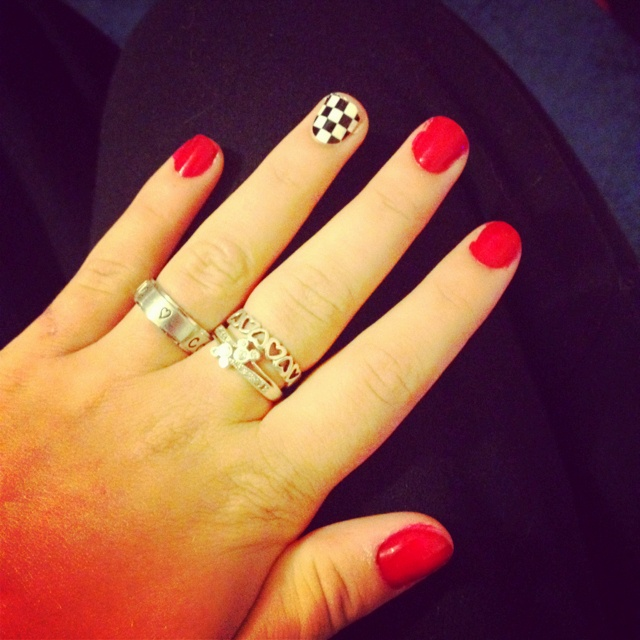Sexy racing nails! I'd get blue for Ricky!