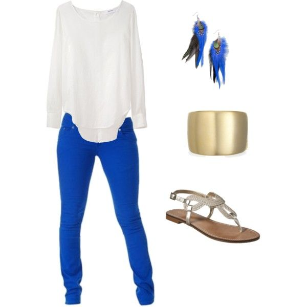 Royal Blue Skinny Jeans, created by brennam on Polyvore
