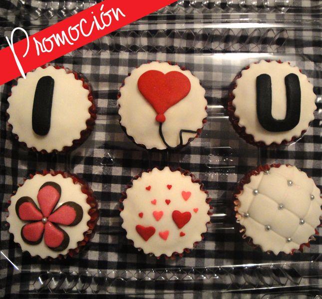 Cupcakes : Cupcake de amor y amistad