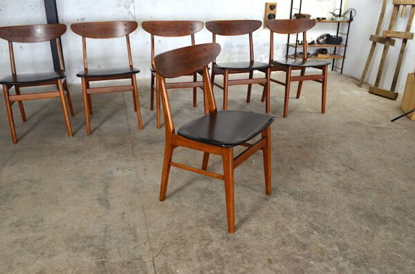 Ensemble Table Vintage 6 Chaises Scandinave 1960 Table Vintage Chaise Scandinave Chaise