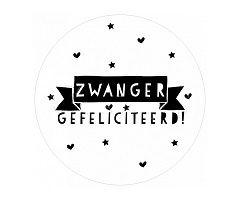 Zwanger, gefeliciteerd! #stickers - #Sluitzegel - Buy it at www.vanmariel.nl - 10 stuks € 2