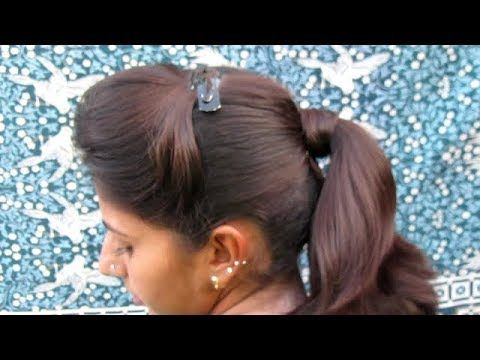 PONITAIL WITH PUFF HAIRSTYLE || COLLAGE GIRLS HAIRSTYLE - YouTube