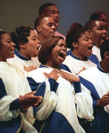 Virginia State University: Virginia State University Gospel Choir [Credit: Wally Santana/AP]