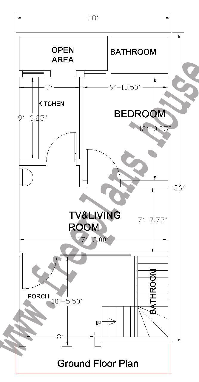 18x36 feet ground floor plan plans pinterest for 5000 square feet to meters