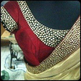 cream-tissue-silk-saree-with-kundan-work