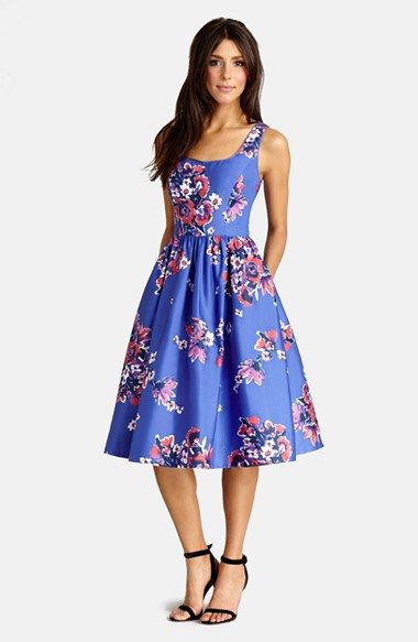 Super cute Easter/ Mothers day dress Donna Morgan Print Cotton Midi Dress available at #Nordstrom