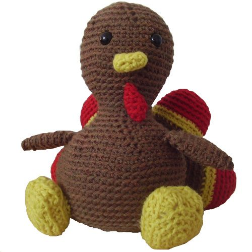 Thanksgiving turkey Stuffed Animal Crochet Pattern $4-I think I can figure this out without the pattern??? maybe