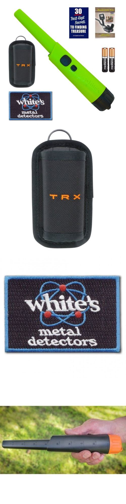 Metal Detectors: Whites Bullseye Trx Pinpointer Pin Pointer Green W Holster And Free Iron-On Patch -> BUY IT NOW ONLY: $149.95 on eBay!