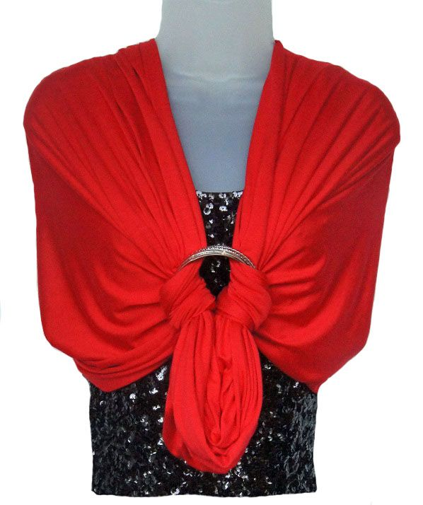 Love that sleeveless dress but don't want your arms to show? The Tiffie® Forever Scarf™ seen here as the Jane Shawl with bangle bracelet. $36 www.TheTiffie.com  #fashionandfunction #shawl #scarf #bracelet #howtowear