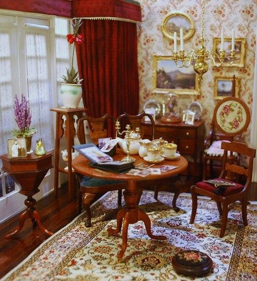 Victorian sitting room - I think it's a picture of a dollhouse, but still, it's pretty