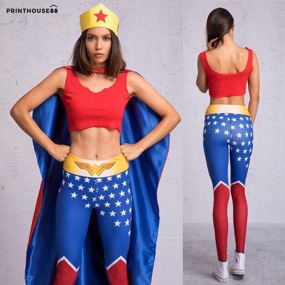 c65cb0de5ff03 Wonder Woman Leggings - Wonder Woman Costume Adult, Adult Wonder Woman  Costume, Halloween Costume Wo