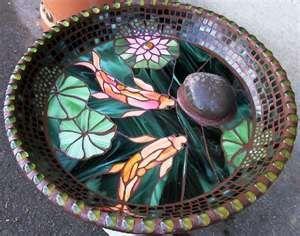 Mosaic Birdbaths This one is beautiful