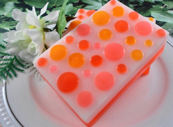 Soap  Tangerine Dream Soap made with Goats Milk  by SoapGarden, $5.50