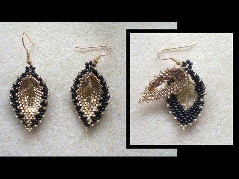 Video from beading4perfectionists : Russian double leaf earrings. #Seed #Bead #Tutorials