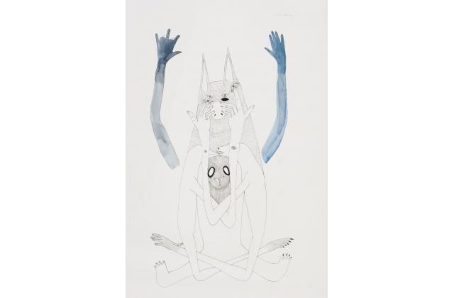 Erik Jerezano | Absurd ways of confusing the enemy series #48 |Encre et aquarelle sur papier (ink and watercolour on paper) |2009