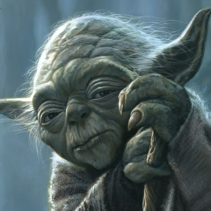 """Yoda"" by Jerry Vanderstelt.  This painting was used as the cover for the ""Star Wars Art: Illustration"" book which is available on Amazon.com."