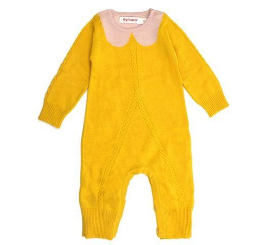 jumpsuit Lena yellow/pink - meisjes 0-18m - kledij 0-6 jaar - aymara - Lunabloom - Stijlvolle en ...