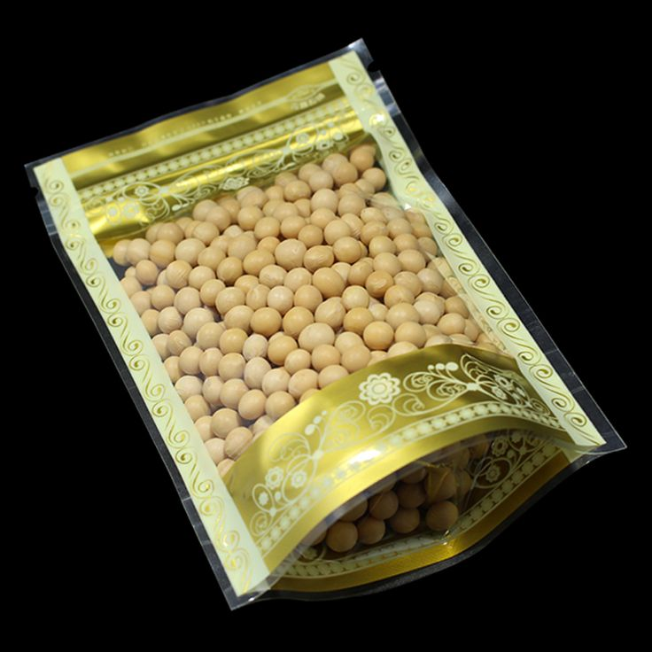 ==> [Free Shipping] Buy Best Wholesale Stand Up Zip Lock Gold Printing Plastic Package Bag Food Coffee Snack Beans Moisture Proof Storage Packaging Poly Bag Online with LOWEST Price | 32811714680